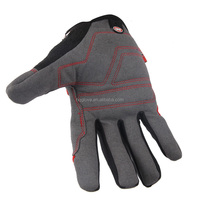 Palm- microfiber with foam padding Back- spandex safety gloves for construction with dots