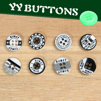 all types of custom resin laser engraved button for shirt