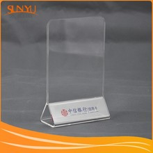 With Independent Export Rights! Customizing Clear Acrylic Table Tent/Greeting Card Table Display Stand