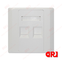 86*86 type two ports back box for face plate