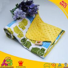 Reversible Super Soft Minky Handmade Crochet Baby Blankets