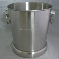 stainless steel bokashi bucket with handle and stand