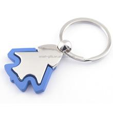 Promotional custom fish shape blank metal keychain