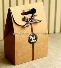 flip top kraft paper bag with velcro tab