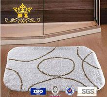 Hotel toilet bamboo floor mat