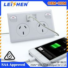 2015 New product electrical plugs and socket with usb port