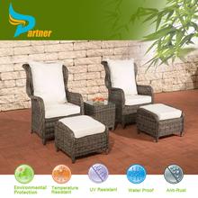 Garden Aluminum Poly wicker rattan chairs