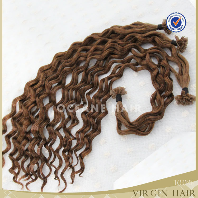 Pre Bonded Hair Extensions Curly 61