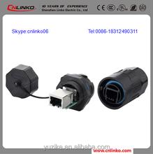 RJ45 Terminal Block RJ45 Wireless Network Adapter to RJ45 Male Plug Waterproof Connectors