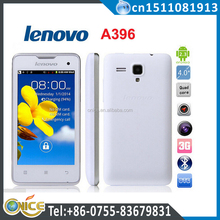Original lenovo a396 china cheapest 3g android phone mobile 3G WCDMA Dual Sim 4 inch Android 1.2GHZ Bluetooth Russian in stock