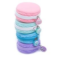 wholesale lovely Zero Purse keychain Macarons Silicon handbag Dessert gifts girls toto bag