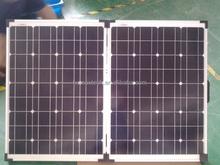 125x125 cell 18v 100w poly folding solar panel