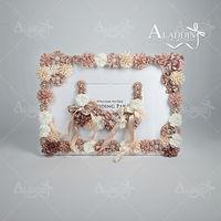 2015 new model photo frame happy wedding display flower photo frame
