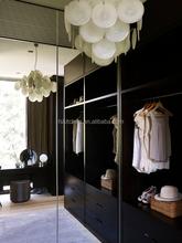 modern design according to custom size black color walk in closet free 3D designs