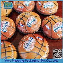 China ZheJiang Factory Wholesale Cool Special Basketball Pattern/Shaped Tin Box For Packaging