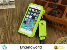 Hanging on the neck for iPhone 5 5s leather case