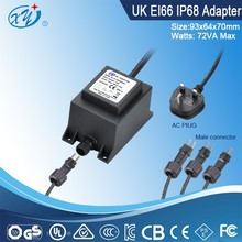 china waterproof linear adapter / 24vac power supply with ip68