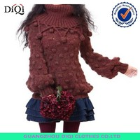 OEM wool handmade sweater design for girl from knitted factory