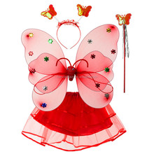 Stage costume party dancing dress Girl Butterfly wing