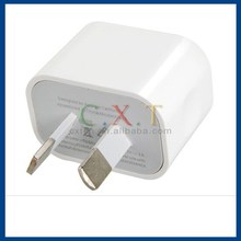 AU Plug USB Power Adapter USB Travel Charger Wall Charger for iPhone 6 (White)