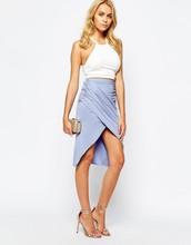Boho Asymmetric Wrap Around Skirt