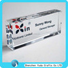 Factory selling imprinted logo custom clear acrylic glass block