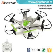 Headless mode 2.4G 4ch rc camera helicopter drone with three speeds.