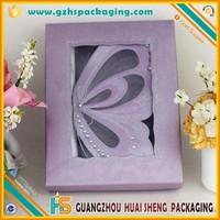 Luxury Purple Die-cut Butterfly Wedding Invitation Scroll Box,wedding favor box