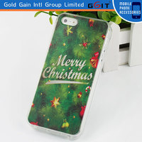 Hot Selling Christmas Decoration for iPhone 5 Case, Mobile Phone TPU Case for iPhone 5