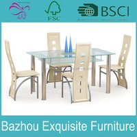 modern simple 4 Seater dining tables glass dining table modern Dining Table