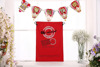 Christmas gift bag red color cotton high quality in stock eco manufacturer no MOQ