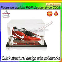 Tablet top clear acrylic clear sneaker display box
