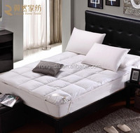 Two Layers 90% Duck Down and 5% Goose Down Feather Down Mattress Pad 150X200CM