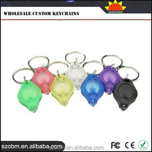 Plastic UV Money Detector keychain flashlight wholesale custom keychains
