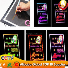 CE & ROHS & FCC approved led illuminated writing board alibaba express with tripod and market pen for shops advertising hot sale