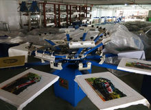 manual 8 color 8 station t shirt screen printing machine for sale