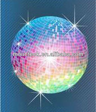 2015 popular LED christmas decorations 12''30cm disco lights mirror ball