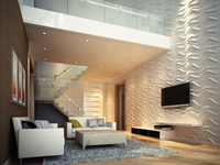 Modern durable decoration polymer composite 3D wall panel