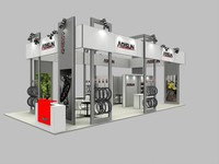Custom aluminum truss trade show booth