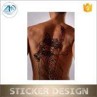 Custom made water transfer printing temporary tattoo sticker for men