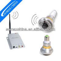 2.4G Wireless Bulb CCTV Security AV Camera Set (Invisible Light at Night)