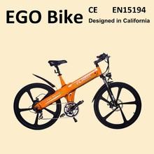 Haoling Lightweight Aluminum alloy frame electric motor road bike, electric off road bike