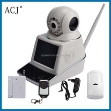 mobile phones display 3g video car camera with wireless home anti-theft security alarm system