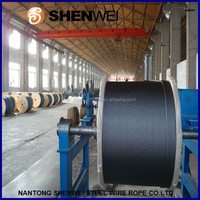 8x19s+FC strand wire ,pipe and cables fiber core elevator steel wire rope