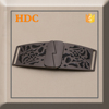 Fashion garment decorative cross buckle for belt