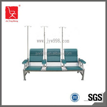 Cold-rolled steel hospital furniture, hospital waiting chair with arm