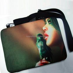 Custom printing neoprene laptop sleeve,15.6 inch zippered laptop bag,neoprene laptop case