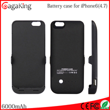 Mobile power supply Power bank case 6000MAH for iphone 6 Cell phone accessories Pack backup battery