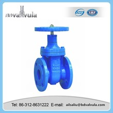 DIN soft sealing gate valve DN40 gray iron gate valve