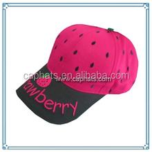 Children fashion customized cotton baseball cap wholesale